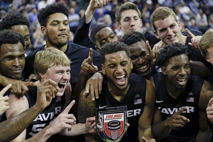 Xavier celebrates its second holiday tournament title in Orlando in the past two years (AP).