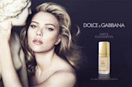 Scarlett Johansson for Dolce & Gabbana's Perfect Matte Liquid Foundation ad campaign