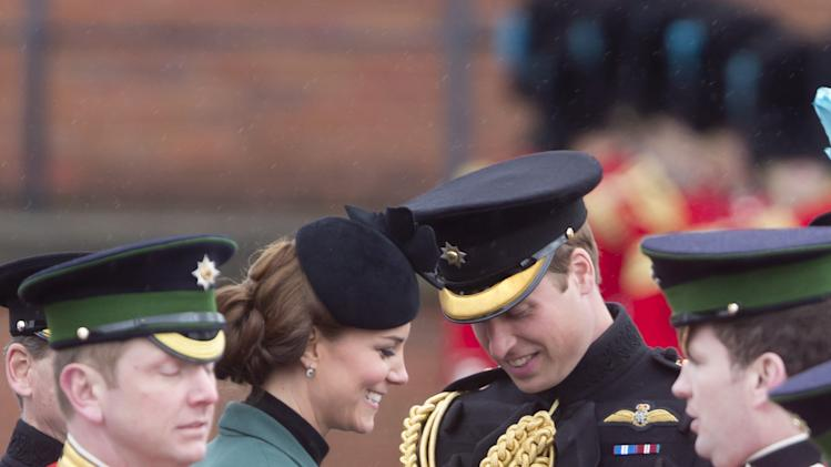 The Duchess Of Cambridge Attends the Irish Guards' St Patrick's Day Parade
