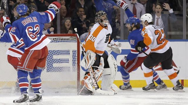Ice Hockey - Nash inspires Rangers to win over Flyers