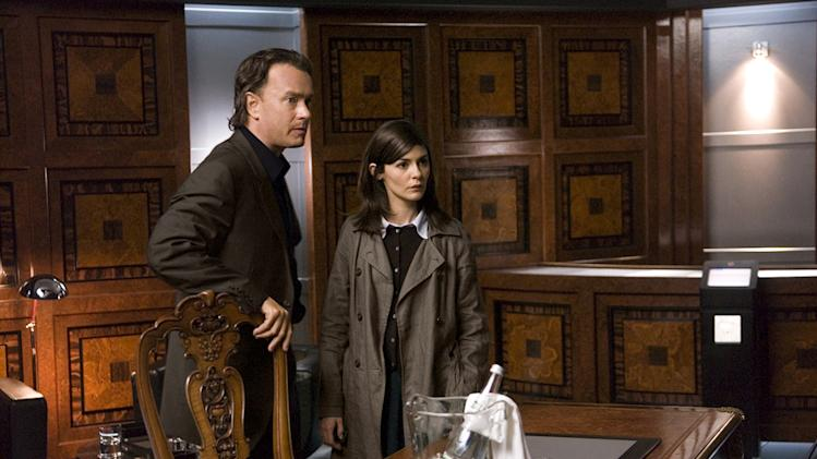 The Da Vinci Code Columbia Pictures Production Stills 2006 Tom hanks Audrey Tautou
