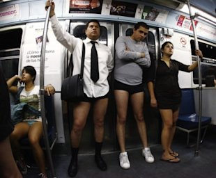 No Pants Day -- the male version. (Photo: Getty)