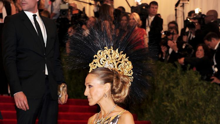 "Actress Sarah Jessica Parker attends The Metropolitan Museum of Art  Costume Institute gala benefit, ""Punk: Chaos to Couture"", on Monday, May 6, 2013 in New York. (Photo by Evan Agostini/Invision/AP)"
