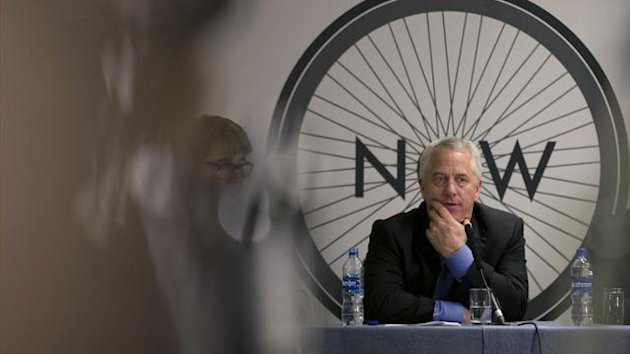 Greg LeMond former winner of the Tour de France, speaks during a press conference held by Change Cycling in London, Monday, Dec. 3, 2012. A group of the UCI's fiercest critics is demanding that the president steps aside, with three-time Tour de France win