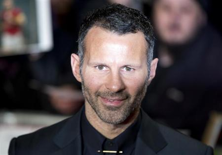 "Soccer player Ryan Giggs attends the world premier of the film ""The Class of 92"" in London"