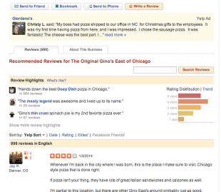 Why Online Customer Reviews Will be More Important in 2014 image yelp review ginos