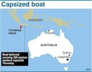 Three people were confirmed dead Friday and 110 have been rescued from a boat that capsized off Australia with 200 people believed to be on board, authorities said
