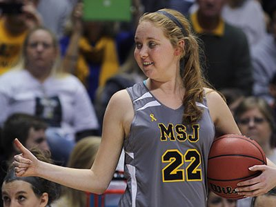 Lauren Hill needed just 17 seconds to make her dream come true. The freshman for Mount St. Joseph's made an uncontested layup for the opening basket against Hiram College. Hill has just months to live because of an inoperable brain tumor. (Nov. 3)