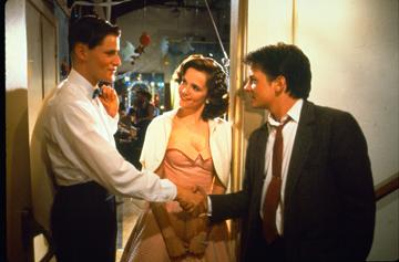 Crispin Glover , Lea Thompson and Michael J. Fox in Universal Pictures' Back to the Future