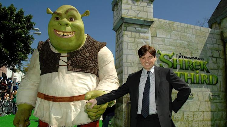 Mike Myers with Shrek