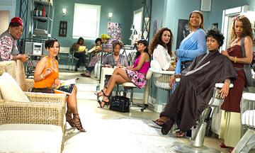 Sherri Shepherd , LisaRaye McCoy , Alfre Woodard , Kimora Lee Simmons , Andie MacDowell , Queen Latifah and Golden Brooks in MGM's Beauty Shop