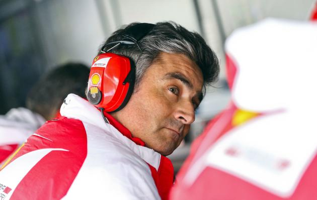 New Ferrari Formula One team principal Mattiacci attends the qualifying session for the the Chinese F1 Grand Prix at the Shanghai International circuit