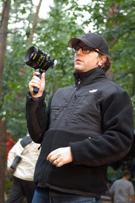 Director David Dobkin on the set of Warner Bros. Pictures' Fred Claus