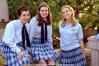 Heather Matarazzo , Anne Hathaway and Mandy Moore in Walt Disney's The Princess Diaries