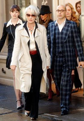 Anne Hathaway , Meryl Streep and Stanley Tucci in 20th Century Fox's The Devil Wears Prada