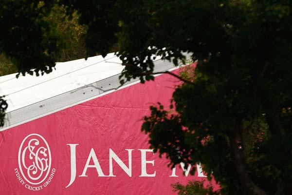 SYDNEY, AUSTRALIA - JANUARY 05:  View of the temporary Jane McGrath marquee during day three of the Second Test Match between Australia and India at Sydney Cricket Ground on January 5, 2012 in Sydney,