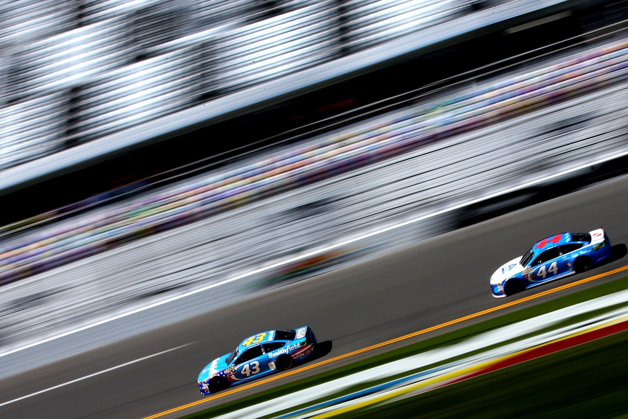 Aric Almirola and Brian Scott had their best finishes of the year at Talladega in the fall. (Getty)