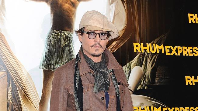 Johnny Depp Rhum Express Paris Photocall