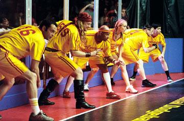 Vince Vaughn , Alan Tudyk , Christopher Williams , Christine Taylor , Stephen Root , and Justin Long in 20th Century Fox's Dodgeball: A True Underdog Story