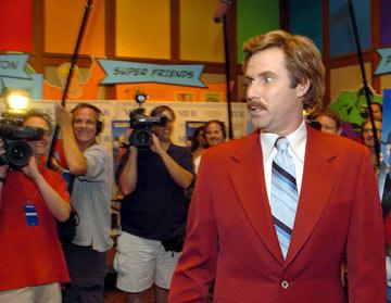 Ron Burgundy ( Will Ferrell ) at the New York premiere of Dreamworks' Anchorman