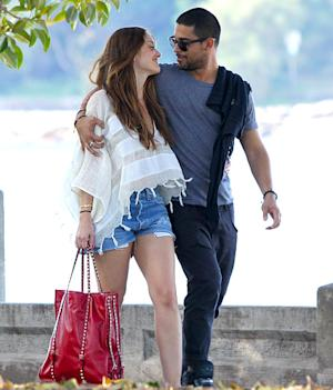 PIC: Wilmer Valderrama, Minka Kelly Pack on PDA in Australia