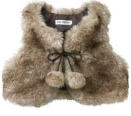 kid republic faux fur cropped vest