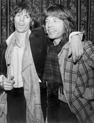Mick Jagger (right) and Keith Richards in London in 1977. The Rolling Stones launch a photographic exhibition Thursday marking 50 years since their first gig, as guitarist Richards said the veteran British rock band had been rehearsing again