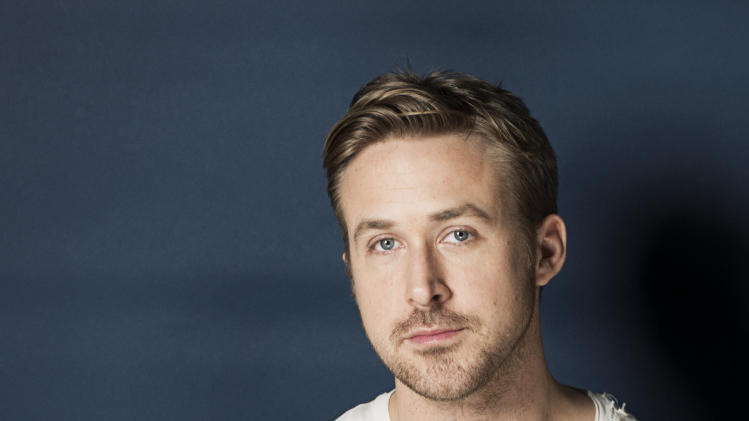 "This March 10, 2013 photo shows Canadian actor Ryan Gosling poses for a portrait in New York. Gosling plays a tattooed motorbike rider in a traveling circus in his latest film,""The Place Beyond the Pines."" (Photo by Victoria Will/Invision/AP)"