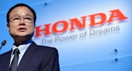 Honda chief executive Takanobu Ito, pictured here in September, wants to boost the Japanese carmaker's exports from the United States to counterbalance the effects of the strong yen, he said in an interview