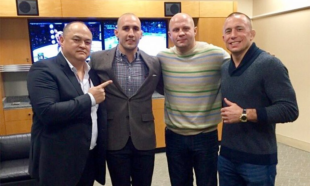 Fedor Emelianenko has signed with Bellator and will fight next February. Could GSP be next? (Twitter)