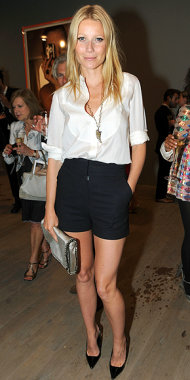 Gwyneth Paltrow keeps it simple and chic in shorts