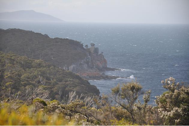 People say that in Australia you can see four seasons in a day. In Tasmania, they say you can see four seasons in an hour. This picture was taken at Freycinet National Park barely 15 minutes after the