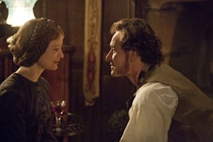 Michael Fassbender (right) as Mr. Rochester and Mia Wasikowska (left) as Jane in