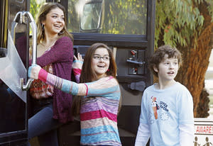 "Sarah Hyland, Ariel Winter and Nolan Gould | Photo Credits: Peter ""Hopper"" Stone/ABC"