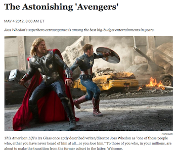 'The Avengers' Review Launches The Atlantic's New Critic, Christopher Orr