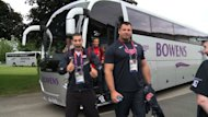 Further members of Team USA have arrived at their training camp in Birmingham ahead of the London Olympic Games. Some were greeted by local school children, keen to throw their support behind the stars and stripes