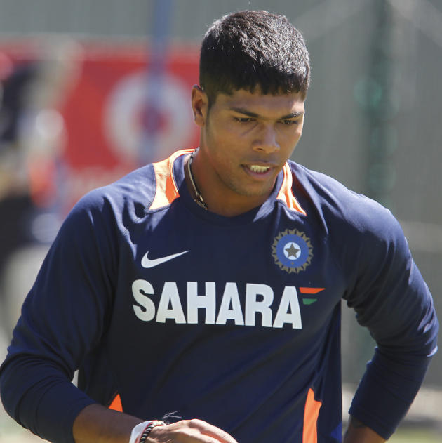 India's Umesh Yadav during a training session at the WACA in Perth, Australia on Wednesday, Jan. 11, 2012. Australia will play India in the third test starting Jan. 13, 2011. (AP Photo/Theron Kirk
