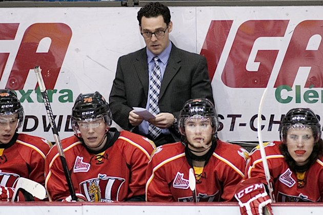 Baie-Comeau coach Eric Veilleux is unhappy with the treatment his team has received in the media. (CP / Ghyslain Bergeron)