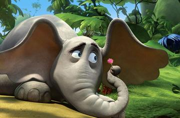 Horton (voiced by Jim Carrey ) in 20th Century Fox's Dr. Seuss' Horton Hears a Who