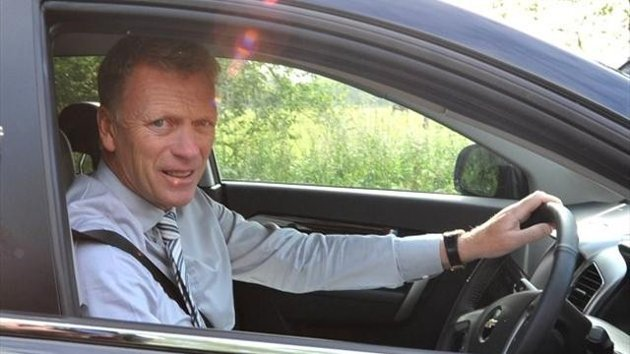 New Manchester United manager David Moyes arrives at the team Carrington training, (PA Sport)