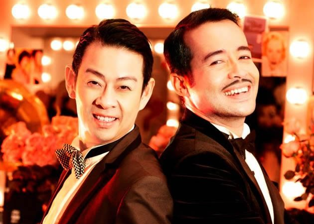 Ivan Heng (left) and Tony Eusoff play the two male leads Albin/Zaza and George, who have been in a 20-year relationship. (W!LD RICE photo)
