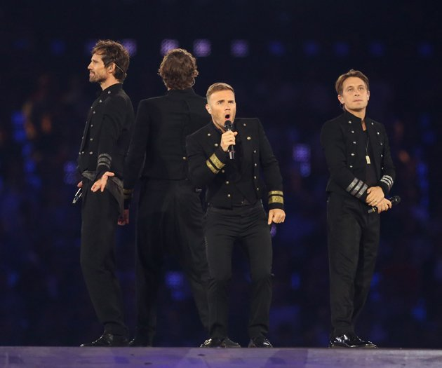 Take That at Olympics Closing Ceremony