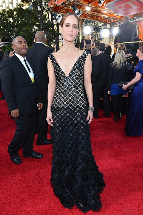 "NBC's ""70th Annual Golden Globe Awards"" - Red Carpet Arrivals: Sarah Paulson"