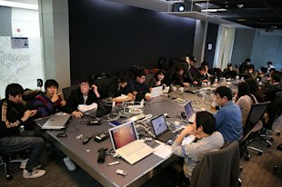 Korean developers at MashUp camp