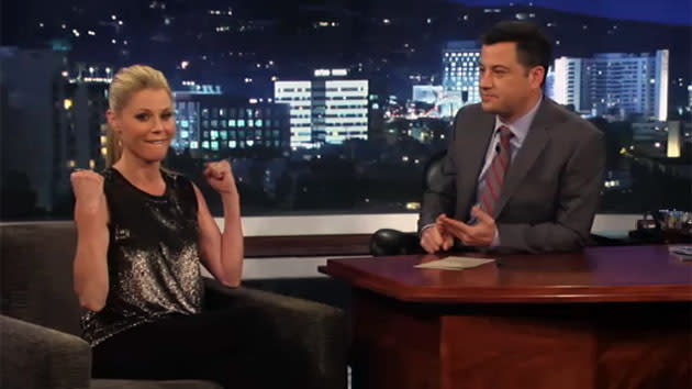 """Jimmy Kimmel Live"" - Jimmy Kimmel, Julie Bowen"