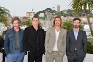 "(Left to right): Australian actor Ben Mendelsohn, US actor Ray Liotta, US actor Brad Pitt and US actor Scoot McNairy pose during the photocall of ""Killing them Softly"" presented in competition at the 65th Cannes film festival on May 22. Pitt stars as a hit man in the blood-drenched drama set against the US financial meltdown and Barack Obama's election and premiering at Cannes Tuesday"