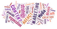 How To Choose A Content Marketing Agency: A Cheat Sheet image Wordcloud2 1024x530 300x155