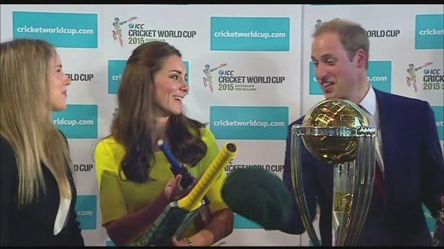 Royal tour: Duke and Duchess meet Australian cricketers