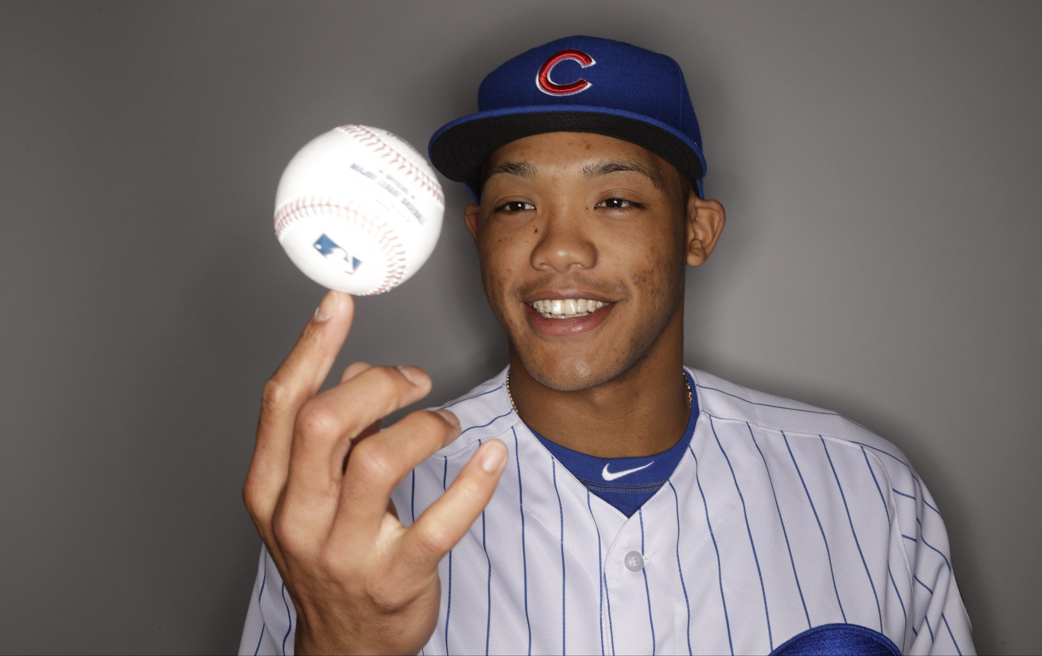 Addison Russell has taken up a unique autograph collection — Pokemon cards. (AP)