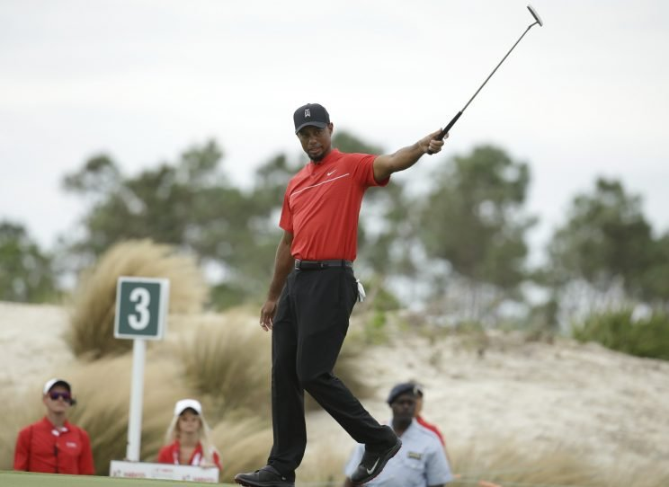 Tiger Woods shot an erratic 4-over 76 on Sunday. (AP)